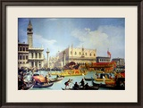 The Betrothal of the Venetian Doge to the Adriatic Sea, circa 1739-30 Gerahmter Giclée-Druck von Canaletto