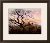 The Tree of Crows, 1822 Framed Giclee Print by Caspar David Friedrich