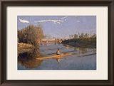 Max Schmitt in a Single Scull, 1871 Framed Giclee Print by Thomas Cowperthwait Eakins