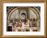 School of Athens, circa 1510-1512, One of the Murals Raphael Painted for Pope Julius II Estampe encadr&#233;e par Raphael 