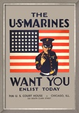 The U.S. Marines Want You Posters