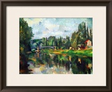 Bridge Over Ther Marne at Creteil, 1888 Framed Giclee Print by Paul Cézanne