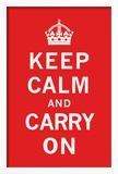 Bleib' ruhig und mach' weiter Gerahmter Giclée-Druck