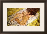 The Embrace, 1917 Framed Giclee Print by Egon Schiele