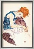 Painter's Wife, Seated Posters by Egon Schiele