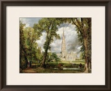 View of Salisbury Cathedral from the Bishop's Grounds, circa 1822 Framed Giclee Print by John Constable