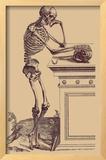 Leaning Skeleton Framed Giclee Print by Andreas Vesalius