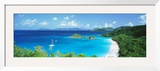 Ocean, Beach, Water, Trunk Bay, St. John, Virgin Islands, West Indies Framed Photographic Print by  Panoramic Images