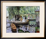 La Grenouillere, 1869 Framed Giclee Print by Pierre-Auguste Renoir
