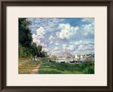 The Marina at Argenteuil, 1872 Framed Giclee Print by Claude Monet