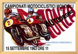 World Motorcycle Championship, 1963 Framed Giclee Print
