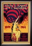 Noces d'Argent del F.C. Barcelona Posters by J. Segrelles