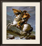 Bonaparte Crossing the Great Saint Bernard Pass, 1801 Gerahmter Giclée-Druck von Jacques-Louis David