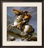 Bonaparte Crossing the Great Saint Bernard Pass, 1801 Gerahmter Giclée-Druck von Jacques-Louis David