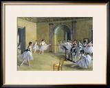 The Dance Foyer at the Opera on the Rue Le Peletier, 1872 Framed Giclee Print by Edgar Degas
