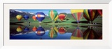 Reflection of Hot Air Balloons on Water, Colorado, USA Framed Photographic Print by Panoramic Images 