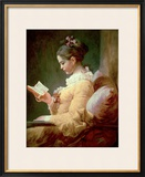 Young Girl Reading Framed Giclee Print by Jean-Honoré Fragonard