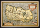 Map of Ireland Poster van Abraham Ortelius