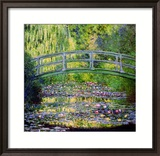 The Waterlily Pond with the Japanese Bridge, 1899 Gerahmter Giclée-Druck von Claude Monet