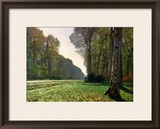 The Road to Bas-Breau, Fontainebleau, circa 1865 Framed Giclee Print by Claude Monet