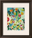 Turquoise Garden Posters by Kim Parker