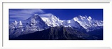 Swiss Mountains, Berner, Oberland, Switzerland Photographie encadrée par Panoramic Images