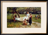 The Apple Gatherers, 1880 Framed Giclee Print by Frederick Morgan
