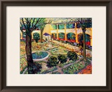 The Asylum Garden at Arles, c.1889 Framed Giclee Print by Vincent van Gogh
