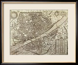 Karte von Florenz, 1595 Gerahmter Giclée-Druck von Matteo Florimi