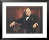Sir Winston Churchill Framed Giclee Print by Arthur Pan