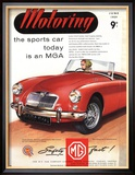 MG Convertibles, UK, 1950 Affiches
