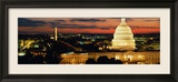 City Lit Up at Dusk, Washington D.C., USA Gerahmter Fotografie-Druck von  Panoramic Images