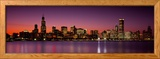 Dusk, Skyline, Chicago, Illinois, USA Framed Photographic Print by Panoramic Images