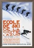 Ecole de Ski Poster by Simon Garnier