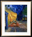 The Caf&#233; Terrace on the Place du Forum, Arles, at Night, c.1888 Framed Giclee Print by Vincent van Gogh