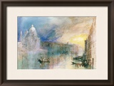 Venice: Grand Canal with Santa Maria Della Salute Framed Giclee Print by J. M. W. Turner
