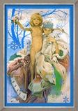 Snow Queen and Child Kunstdruck von Alphonse Mucha