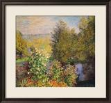 A Corner of the Garden at Montgeron, 1876-7 Reproduction giclée encadrée par Claude Monet