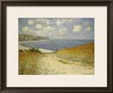 Path in the Wheat at Pourville, 1882 Framed Giclee Print by Claude Monet