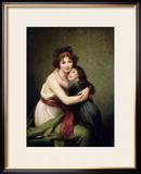 Madame Vigee-Lebrun and Her Daughter, Jeanne-Lucie-Louise (1780-1819) 1789 Framed Giclee Print by Elisabeth Louise Vigee-LeBrun