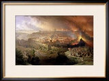 The Destruction of Jerusalem in 70 AD Framed Giclee Print by David Roberts