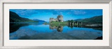 Reflection of a Castle in Water, Eilean Donan Castle, Loch Duich, Highlands, Scotland Framed Photographic Print by Panoramic Images 