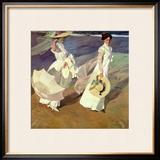 A Walk on the Beach, 1909 Framed Giclee Print by Joaquín Sorolla y Bastida