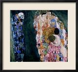 Death and Life, circa 1911 Gerahmter Giclée-Druck von Gustav Klimt