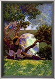 The Knave of Hearts in the Meadow Poster by Maxfield Parrish