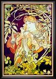 Efeu Poster von Alphonse Mucha