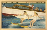 Water Skiers, Daytona Beach, Florida Framed Giclee Print