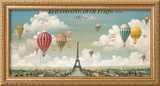 Ballooning Over Paris Framed Giclee Print by I. Lane