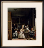 Las Meninas or the Family of Philip IV, circa 1656 Framed Giclee Print by Diego Velázquez