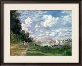 Der Hafen von Argenteuil, 1872 Gerahmter Giclée-Druck von Claude Monet